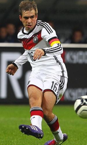 Philipp Lahm em amistoso entre Alemanha e Itália em novembro de 2013