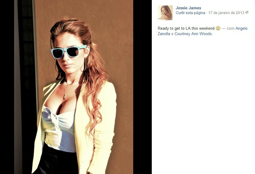 Jessie James, mulher de Erick Decker, do New York Jets