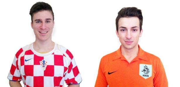 Os húngaros Ádám Tasnádi e Aron Lakatos: dupla arrecadou 10 mil dólares para vir à Copa