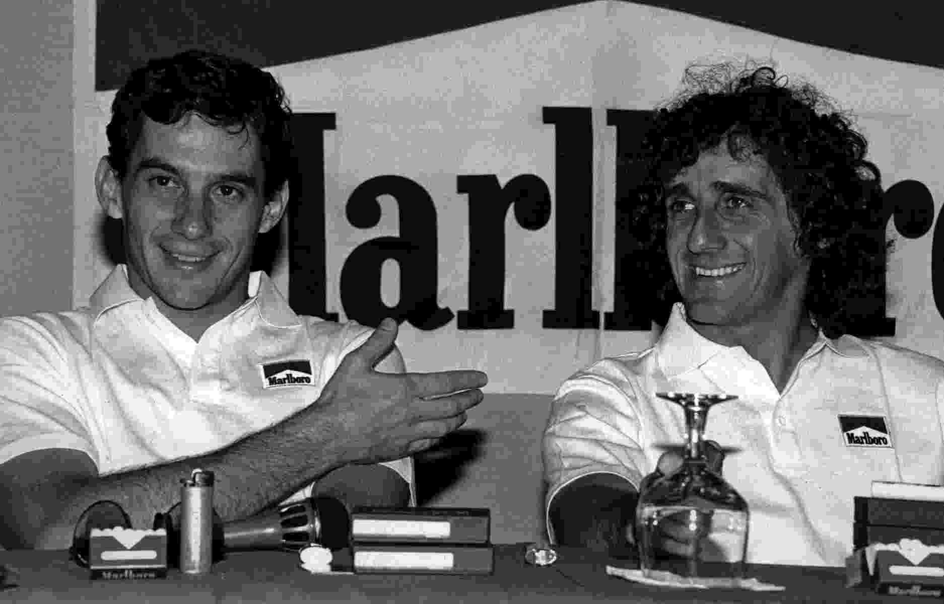 A dupla Senna-Prost durou duas temporadas. Na primeira, a rivalidade surgiu, mas ainda era sadia. Senna venceu oito vezes, Prost ganhou sete. Em toda a temporada, os dois da foto aí em cima só não venceram uma corrida, o GP de Monza (o primeiro colocado foi Gerhard Berger, da Ferrari) - Divulgação