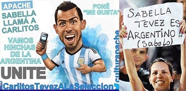 Campanha para que Tevez jogue a Copa ganha força no Facebook e nos estádios argentinos