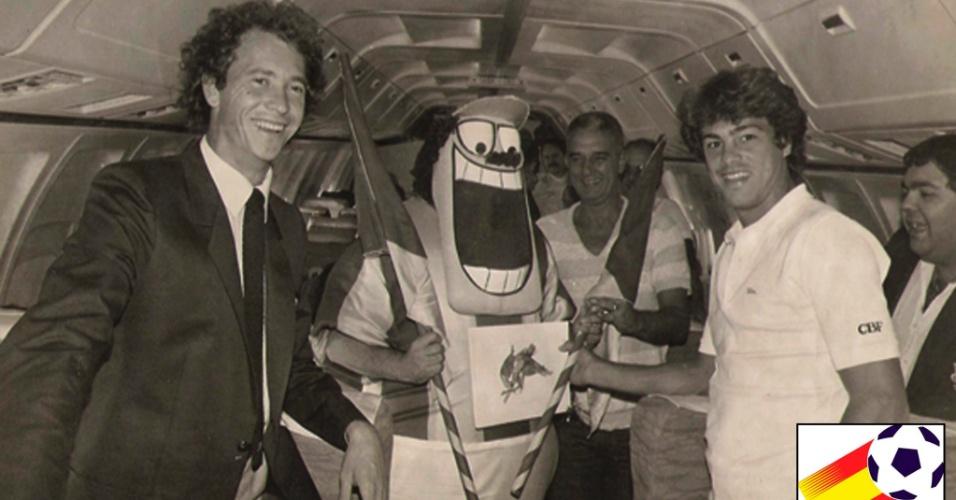 Pacheco teve intimidade com os jogadores da seleção de 1982 como o volante Falcão e o zagueiro Edinho