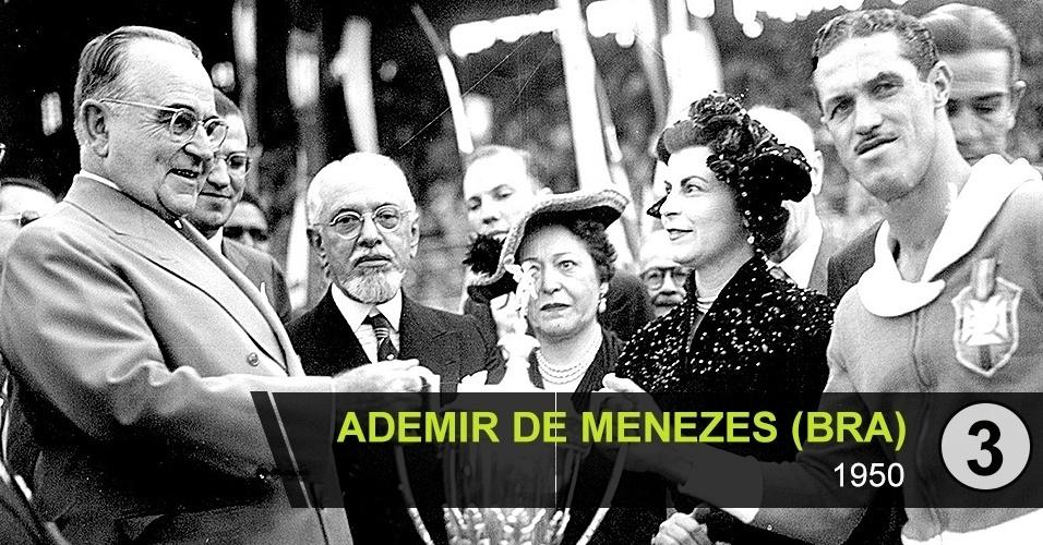 """3. Ademir de Menezes (BRA): """"Fantástico, foi o artilheiro da Copa de 50. Mas poucos se lembram"""", diz Roberto Avallone"""