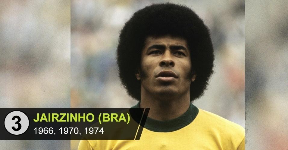 """3. Jairzinho (BRA): """"Fez seis gols na Copa de 1970 e não é badalado como deveria ser"""", diz Juca Kfouri"""