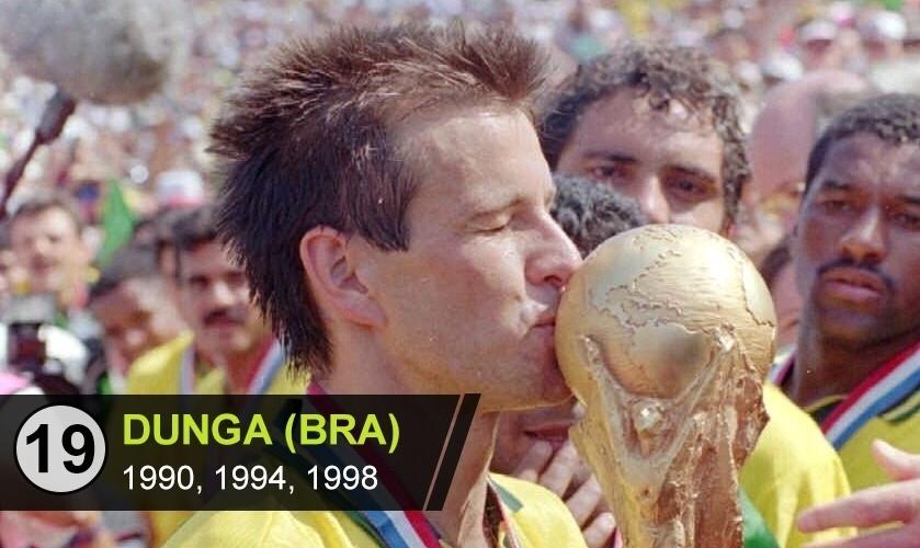 """Dunga (BRA): """"Dunga - Fundamental na conquista da Copa de 1994, merecia mais do que ver a expressão de 'Era Dunga' ser sinônimo de futebol feio"""", diz Perrone"""