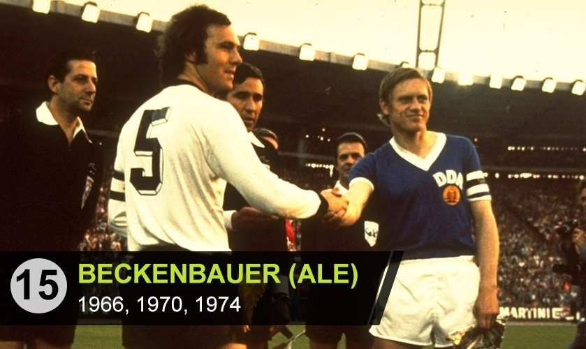 """Franz Beckenbauer (ALE): """"Um dos melhores e mais elegantes que vi jogar. Foi valorizado, mas não vi ele ser colocado na galeria dos monstros sagrados"""", diz Avallone"""