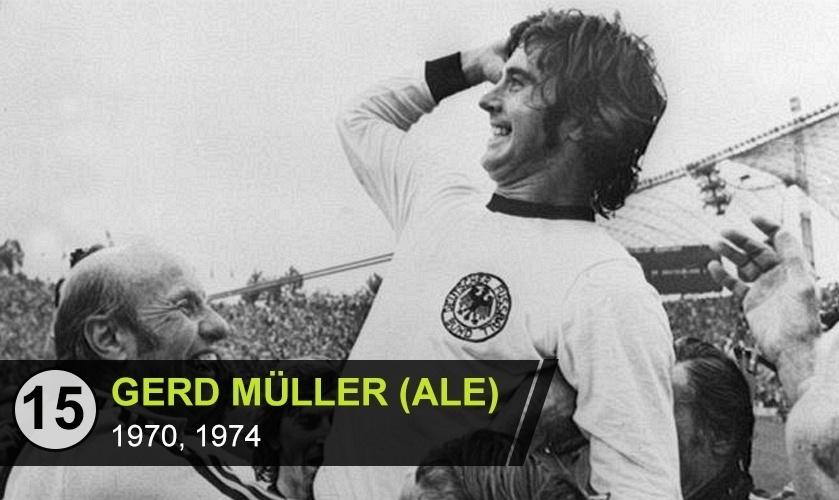 """Gerd Muller (ALE): """"Segundo maior artilheiro em Copas, imprescindível para o título da Alemanha de 74. Mas todo mundo só lembra do Beckenbauer"""", diz Mattos"""