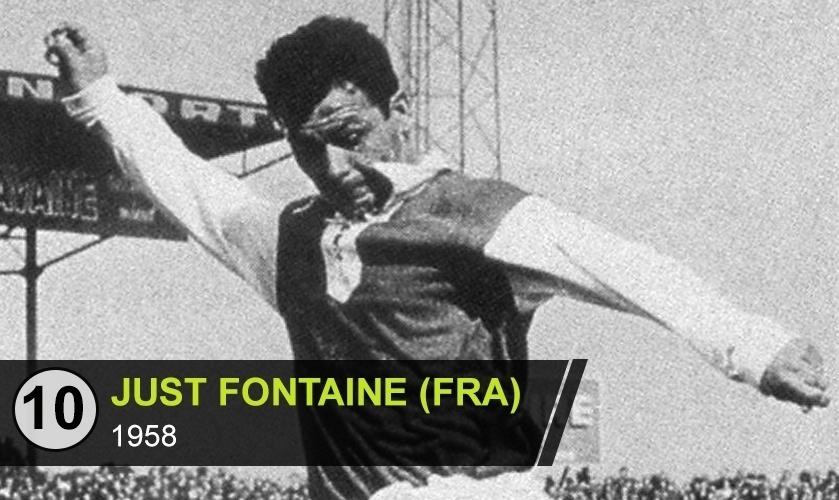 """Just Fontaine (FRA): """"É o maior artilheiro em uma única Copa, com os 13 gols que marcou em 1958. Mas não está entre os monstros sagrados do futebol"""", diz Avallone"""