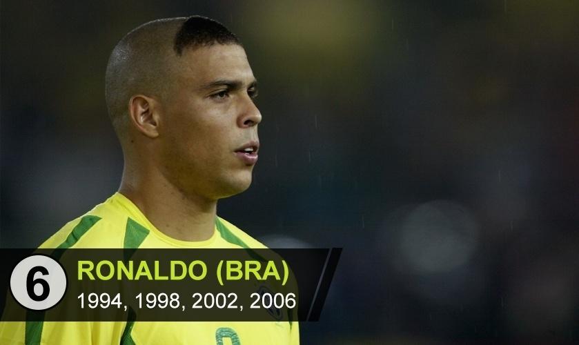 """Ronaldo (BRA): """"Teve atuações excepcionais na Copa de 98 até a semifinal, levando o time brasileiro razoável ate a decisão, mas ficou marcado pelo piripaque na final"""", diz Rodrigo Mattos"""