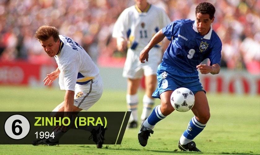 """Zinho (BRA): """"A obediência tática na Copa de 1994 não trouxe o reconhecimento devido, mas rendeu o apelido de enceradeira, que praticamente virou seu sobrenome"""", diz Ricardo Perrone"""