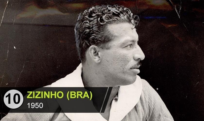 """Zizinho (BRA): """"Foi maestro de um time excepcional e superior aos adversários na Copa de 50, mas ficou esquecido por conta da derrota na decisão para o Uruguai"""", diz Rodrigo Mattos"""