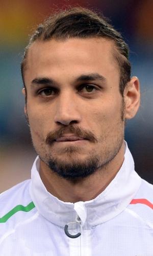 05.mar.2014 - Pablo Osvaldo, da Itália, fica perfilado antes do amistoso contra a Espanha em Madri