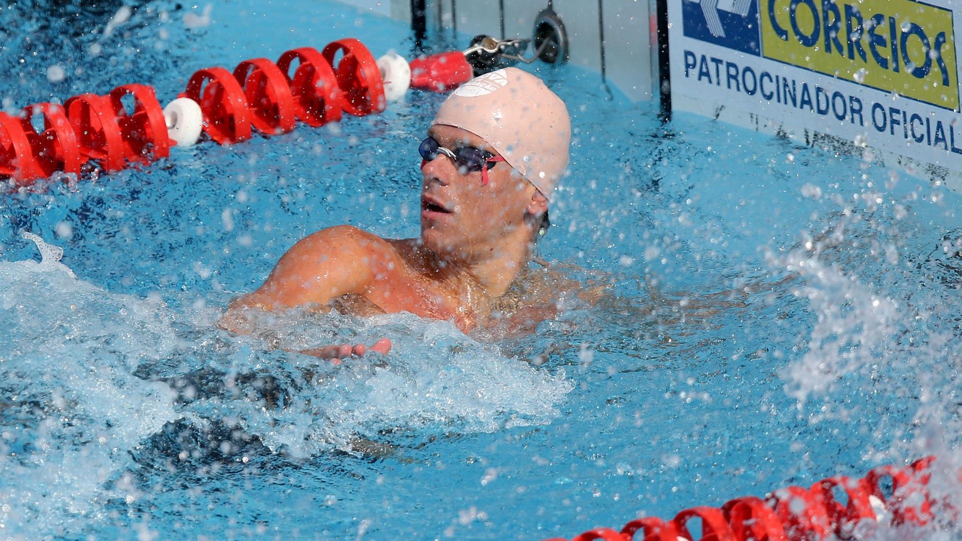 23.abr.2014 - César Cielo venceu os 50m livre do Troféu Maria Lenk