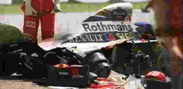 Williams de Ayrton Senna destruída após acidente fatal em Ímola, em 1994 - Reuters - Reuters