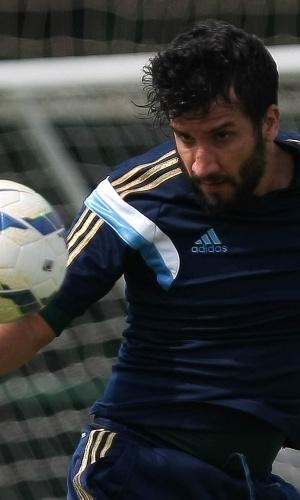 23-03-2014 - Victorino participou dos treinos com o Palmeiras