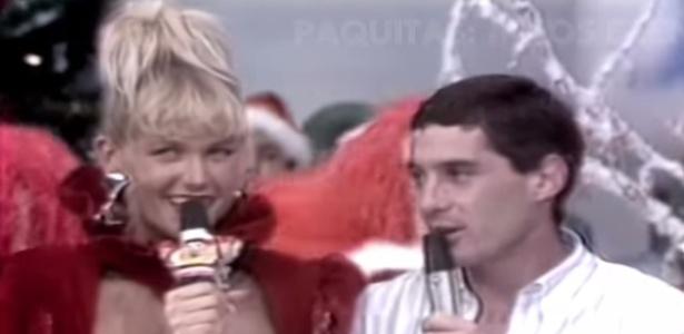 Xuxa e Senna namoraram por pouco tempo, mas ela ainda é a preferida da família Senna - Reprodução/TV Globo
