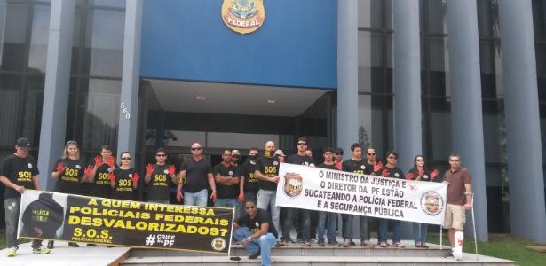 Policiais federais protestam por aumento salarial e melhores condições de carreira