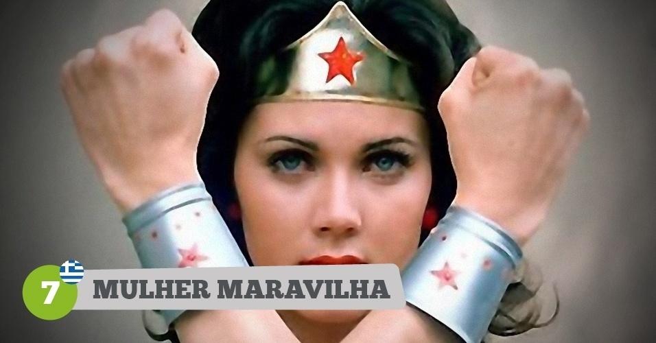 Mulher-Maravilha, heroína da Grécia na Copa