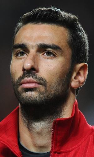 15.nov.2013 - Rui Patrício, goleiro de Portugal, fica perfilado antes do jogo contra a Suécia pela repescagem da Copa do Mundo-2014