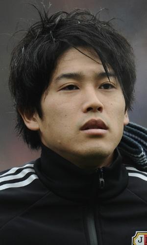 16.nov.2013 - Atsuhito Uchida, do Japão, fica perfilado antes do amistoso contra a Holanda em Genk (Bélgica)