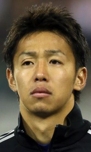 19.nov.2013 - Hiroshi Kiyotake, do Japão, fica perfilado antes do amistoso contra a Bélgica em Bruxelas