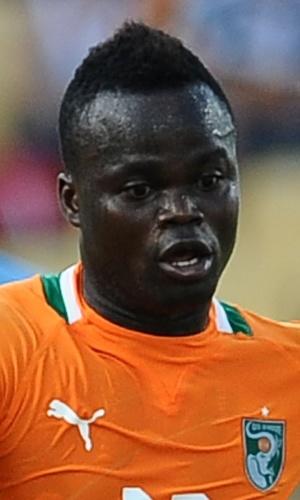 22.jan.2013 - Didier Ya Konan, da Costa do Marfim, toca a bola durante a partida contra Togo pela Copa Africana de Nações