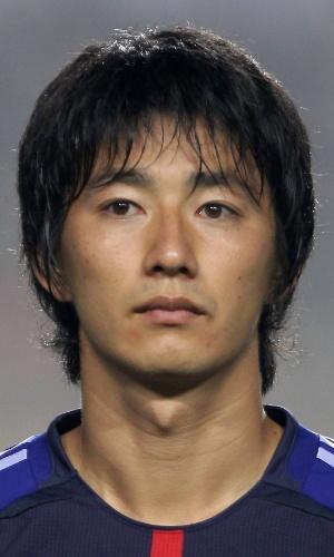 25.jul.2013 - Hideto Takahashi, do Japão, fica perfilado antes de partida contra a Austrália