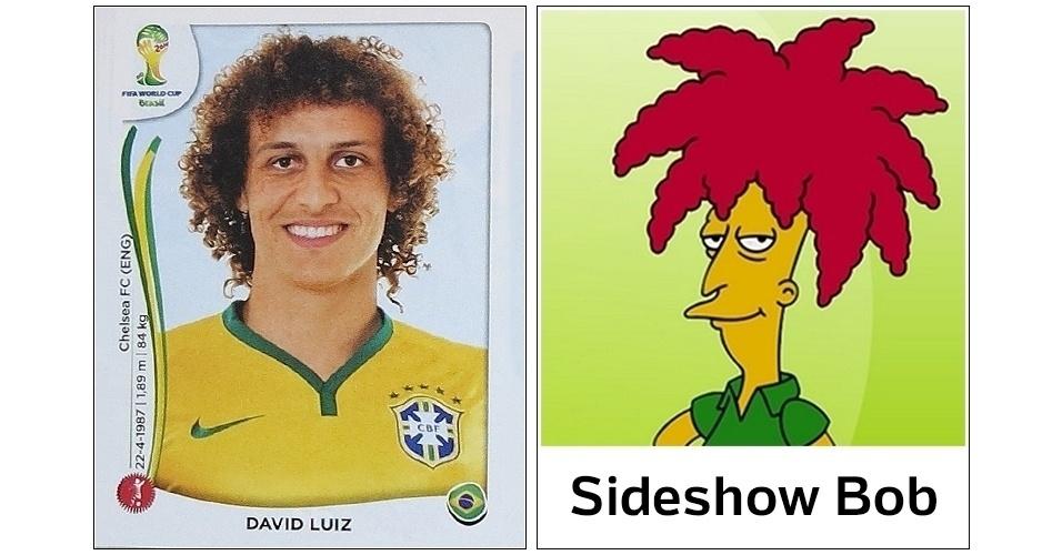 David Luiz, zagueiro do Brasil, é famoso por ser sósia de Sideshow Bob, personagem dos Simpsons
