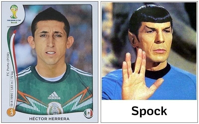 Héctor Herrera, do México, e Spock, de Jornada nas Estrelas, têm algo muito claro em comum: as orelhas
