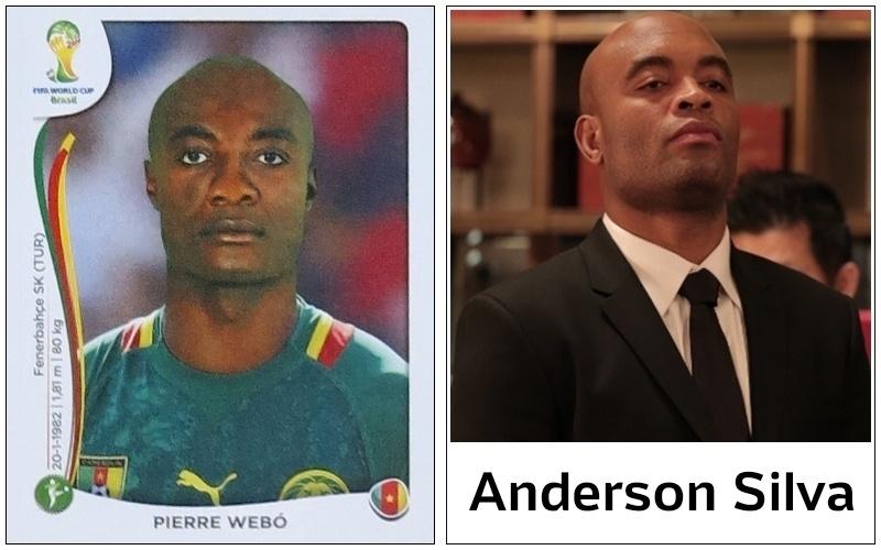 Imagina como será para os jogadores brasileiros ao se depararem com Anderson Silva no ataque de Camarões, em jogo da 1ª fase? Até perceberem que se trata de Webo pode demorar...