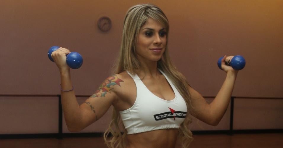 01.mai.2014 - Vencedora do último BBB, Vanessa Mesquita será ring girl no Jungle Fight 69