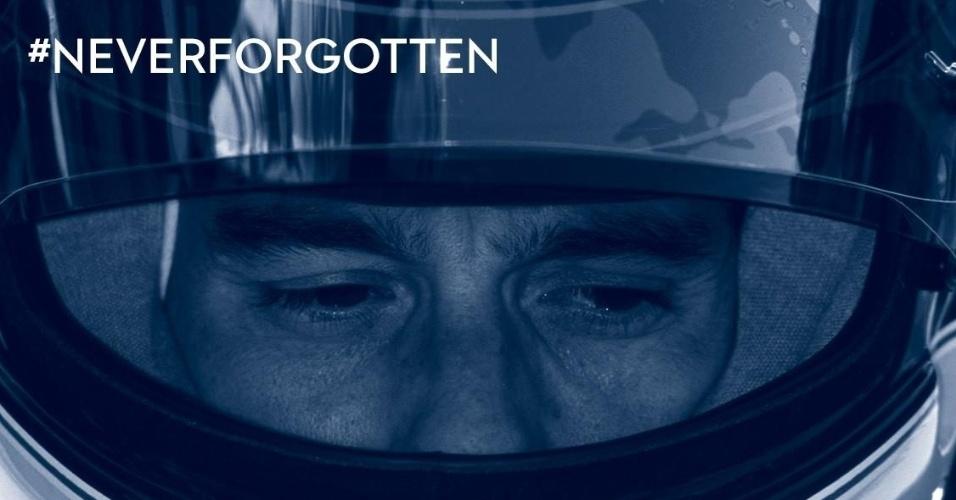 A Williams publicou uma foto de Ayrton Senna em seu perfil oficial no Facebook.