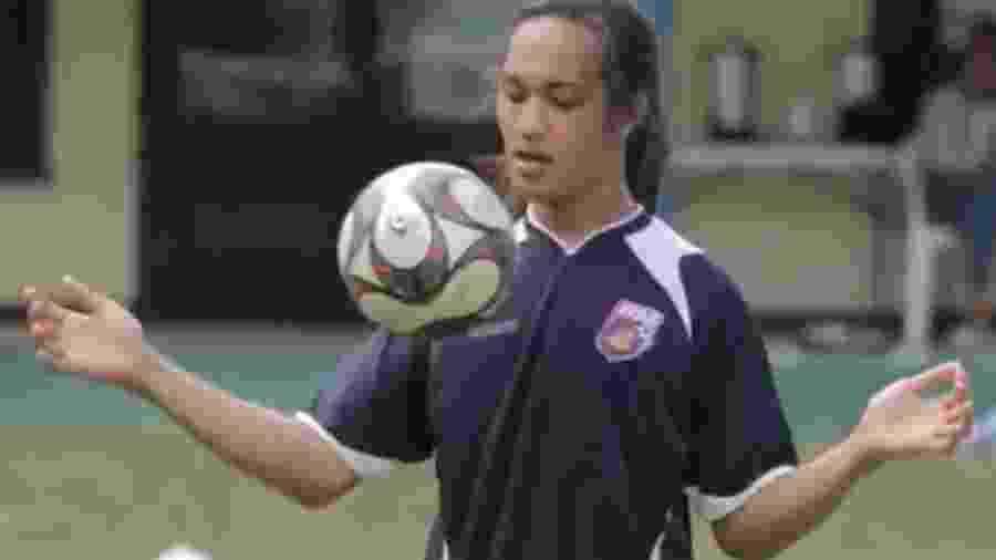 Jaiyah Saelua, zagueira da Samoa Americana foi primeira jogadora trans a atuar por seleção masculina em partidas Fifa - Reprodução