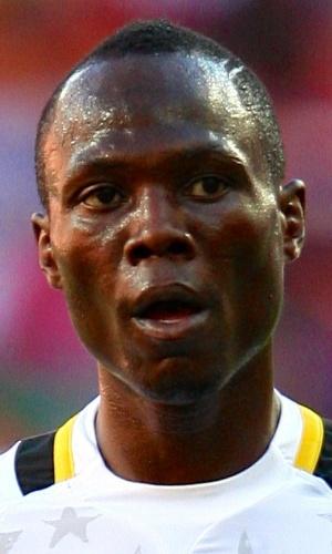 02.fev.2013 - Emmanuel Agyemang-Badu,d e Gana, acompanha jogada durante partida contra Cabo Verde pela Copa Africana de Nações