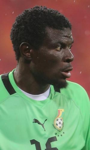 09.fev.2013 - Fatau Dauda, goleiro de Gana, fica com a bola durante a partida contra Mali pela Copa Africana de Nações