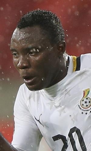 09.fev.2013 - Kwadwo Asamoah, de Gana, carrega a bola durante a partida contra Mali pela Copa Africana de Nações