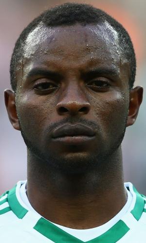 17.jun.2013 - Sunday Mba, da Nigéria, posa antes da partida contra o Taiti pela Copa das Confederações