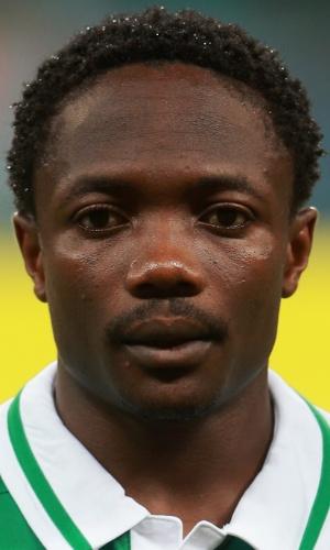 20.jun.2013 - Ahmed Musa, da Nigéria, fica perfilado antes da partida contra o Uruguai pela Copa das Confederações