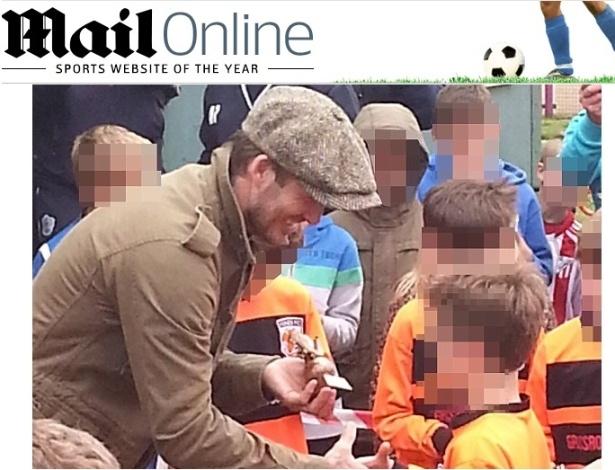 Beckham rouba a cena em jogo de futebol do filho de 10 anos - Reprodução/Dailymail