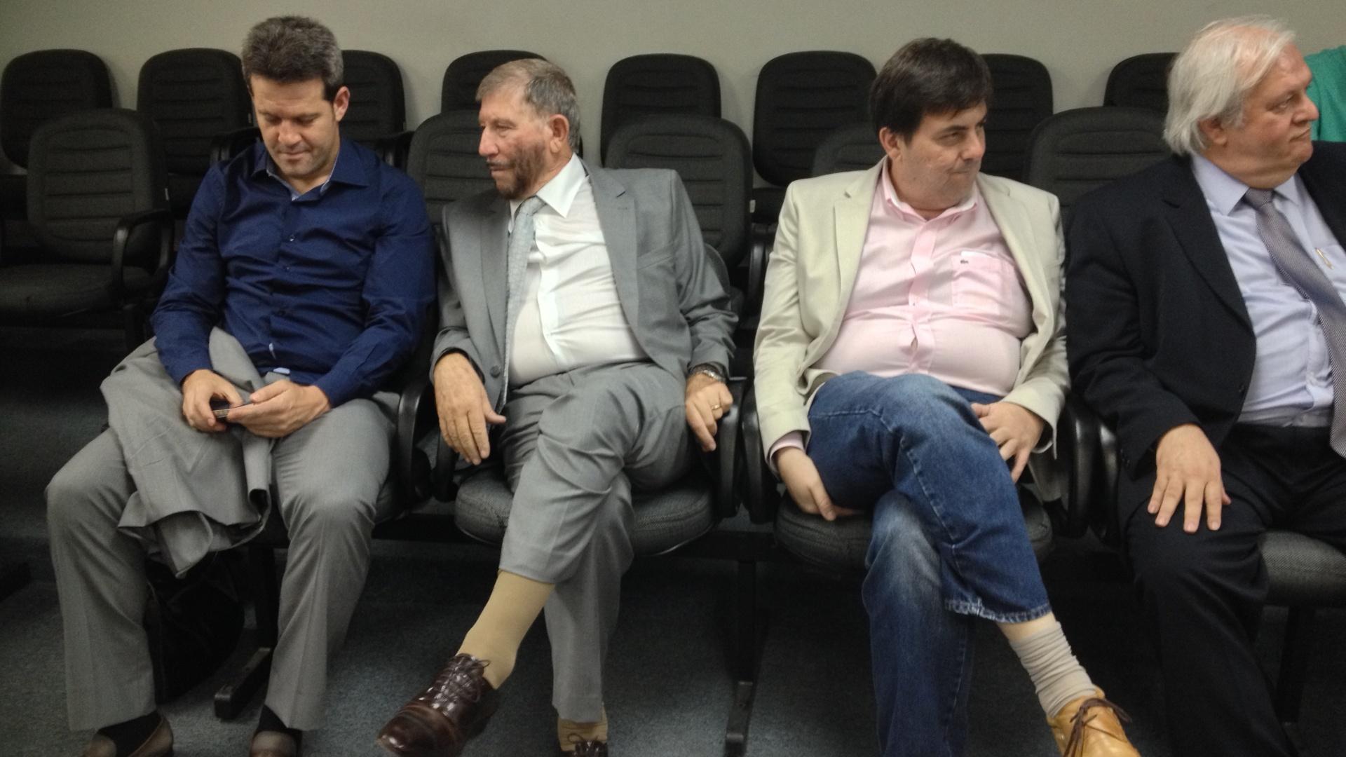 Cúpula da Lusa no STJD: Argel, José Ilídio Lico, Marcos Rogério Lico e o advogado José Luiz Ferreira de Almeida