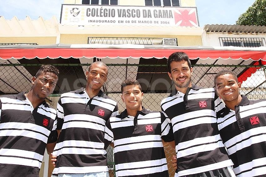 Thalles, Jordi, Henrique, Luan e Lorran: todos estudaram no Colégio Vasco da Gama