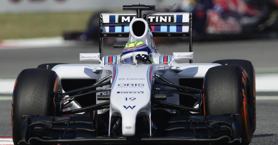 09.mai.2014 - Felipe Massa conduz sua Williams durante treino livre para o GP da Espanha