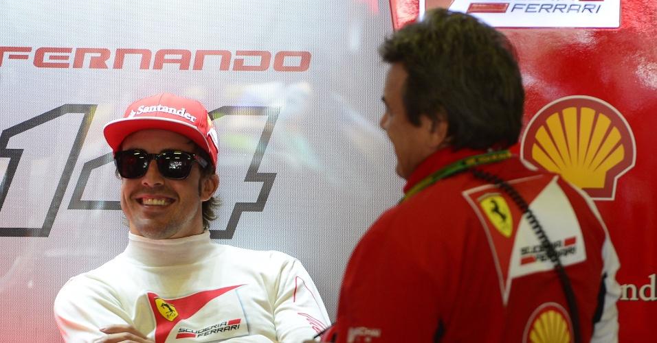 09.mai.2014 - Fernando Alonso foi o quatro mais rápido na segundo treino livre para o GP da Espanha