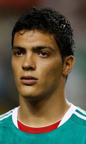 20.jul.2013 - Raúl Jiménez, do México, fica perfilado antes da partida contra Trinidad e Tobago pela Copa Ouro