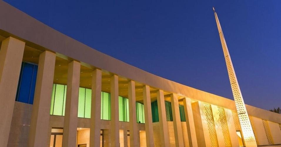 No entorno do estádio saudita de R$ 1,18 bilhão, foi erguida uma mesquita com capacidade para 500 fiéis