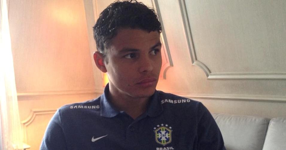 Thiago Silva atendeu a reportagem do UOL Esporte em Paris um dia após a convocação