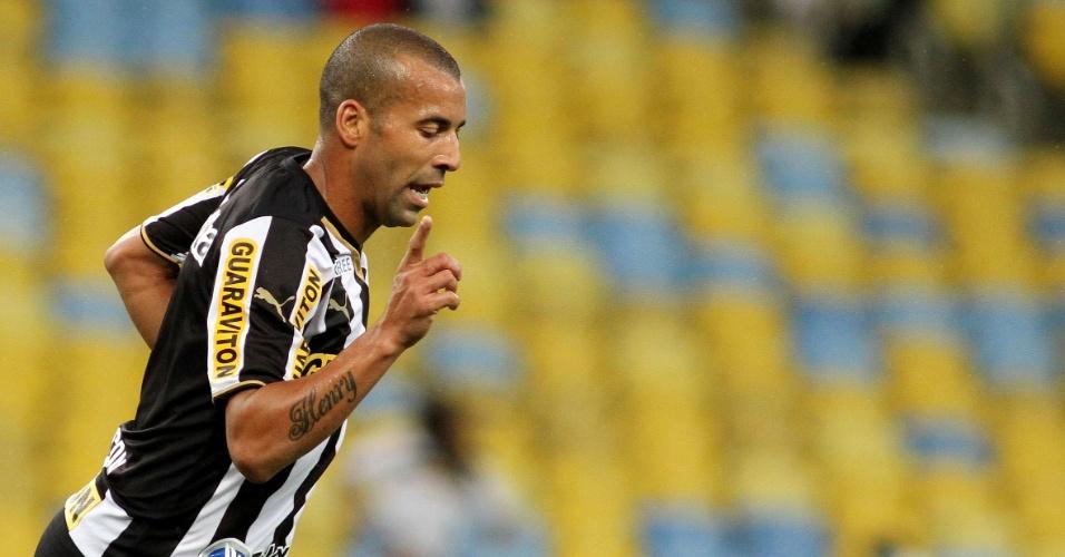 10.05.14 - Emerson Sheik comemora o primeiro gol do Botafogo