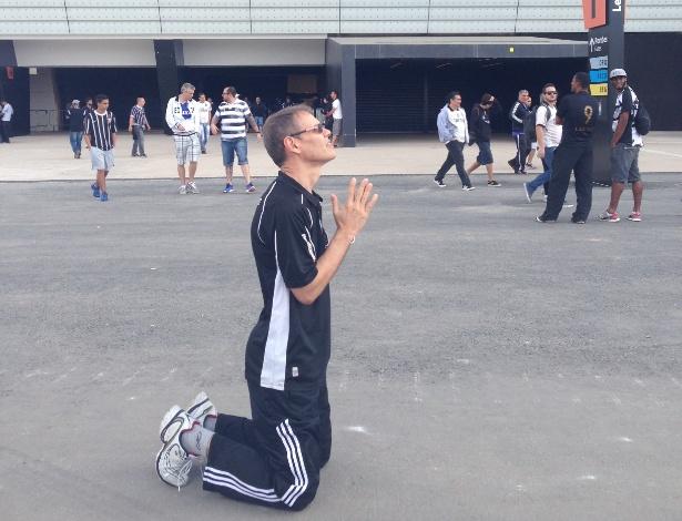 Pisar no terreno do estádio do Corinthians fez o coração de José Rubens bater mais rápido