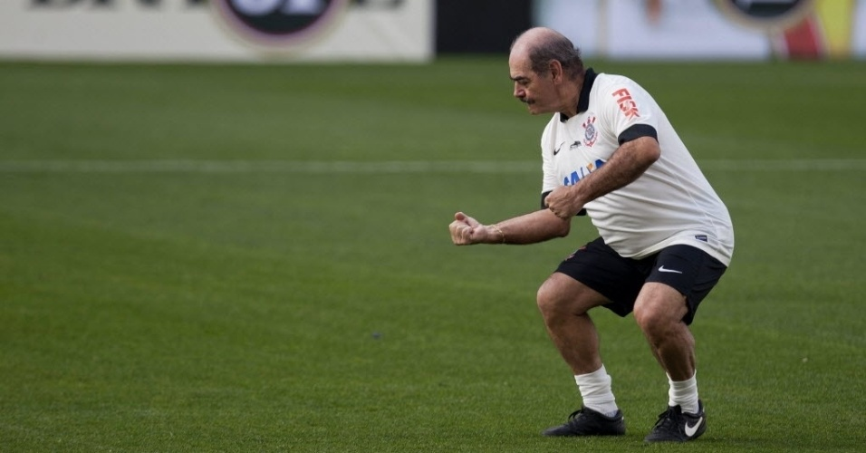 Rivellino fez, de pênalti, o primeiro gol no estádio