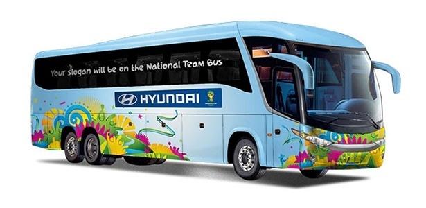 Divulgados os slogans dos ônibus da Copa. E o do Brasil promete o ... 25409a70b380e
